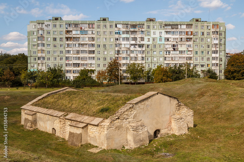 The only remaining building in the ruins of Tiraspol castle, Tra