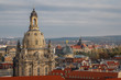 A view over old town of Dresden (Frauenkirche - Our Lady church)