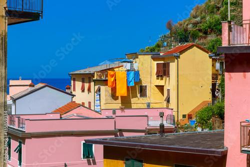 Deurstickers Buenos Aires Manarola fishing village in Five lands, Cinque Terre National Park, Liguria, Italy.