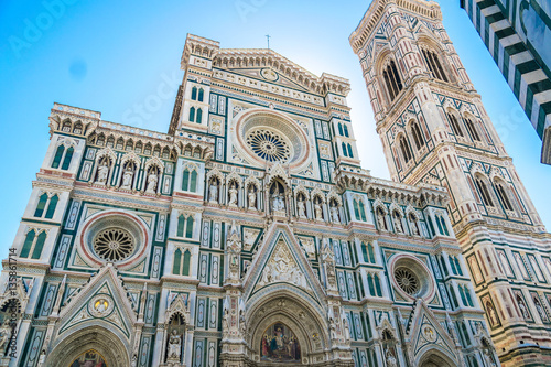 Fototapeta  Santa Maria del Fiore or Duomo in Florence, Italy at midday in summer