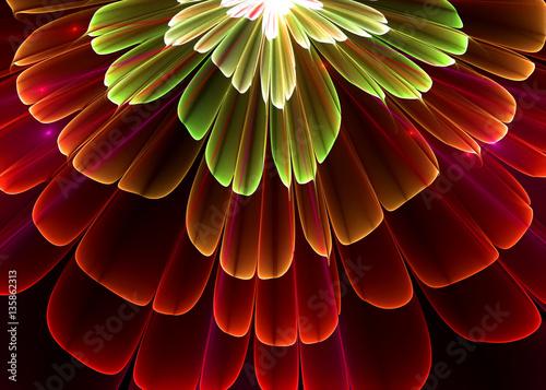 Fractal Pellucid Floral    Background -  Fractal Art