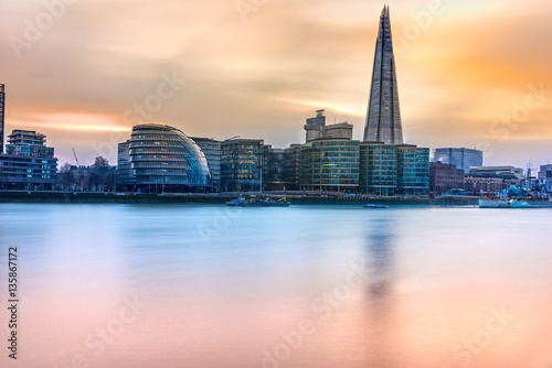 Fototapeta Tower Bridge, widok z Shard, Londyn, Wielka Brytania