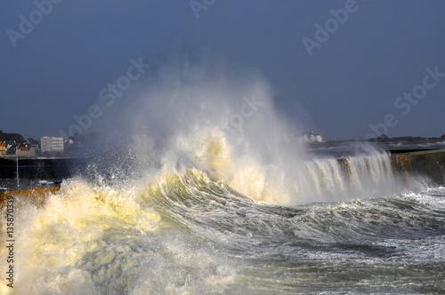 Spoed Foto op Canvas Onweer Tempête,Bretagne,