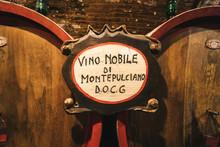 Oak Barrels In An Old Wine Cel...