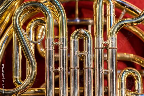 Classic instrument trombone Canvas Print
