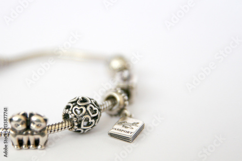 Photo  Silver beads and charms Pandora