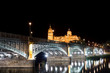 Salamanca cathedral and Enrique Estevan bridge, Castilla y Leon,