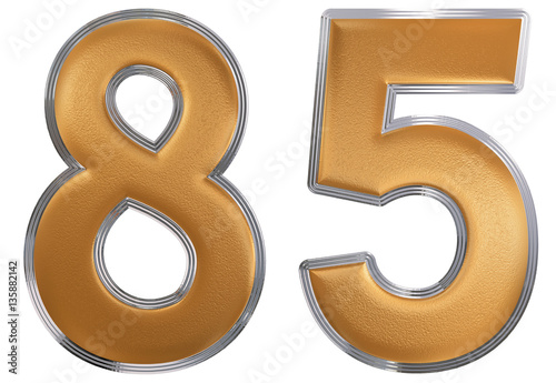 Papel de parede  Numeral 85, eighty five, isolated on white background, 3d render
