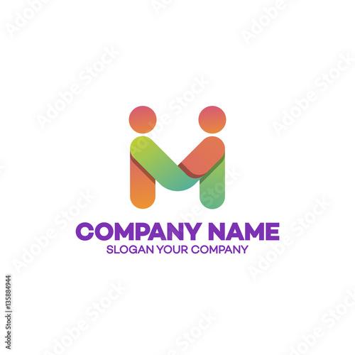 Partnership Logo Template Business Concept Emblem Icon Logotype