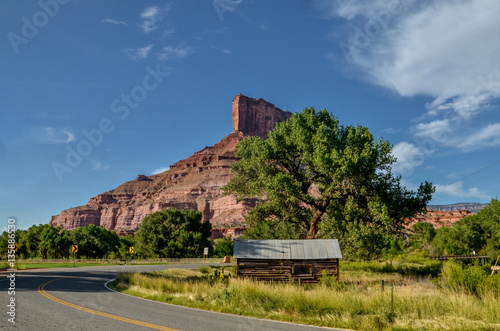 Fotografie, Obraz  The Palisade butte view from Unaweep-Tabeguache scenic byway Gateway, Mesa Coun
