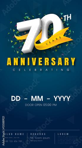 Photographie  anniversary invitation card template design