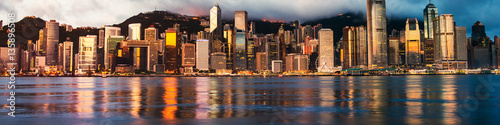 Foto auf AluDibond Hongkong Skyline of Hong Kong in the morning