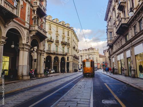 Tram a Torino Fototapet