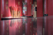 Fortune Stick In Buddhist Taoist Temple