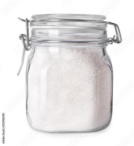 Fotografía  glass jar with sugar