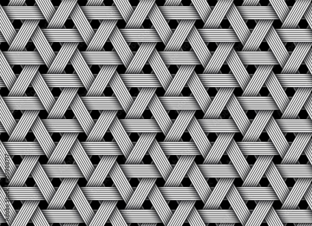 Fototapety, obrazy: Vector wicker fiber seamless pattern