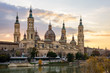 View of Basilica Pilar in Zaragoza , Spain.