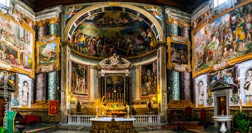 Fototapeta Basilica of San Vitale in Rome, Italy obraz