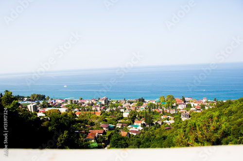 Photo Gagra from a height, the streets of the city, Abkhazia