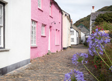 Cornish Colored Houses And Blu...