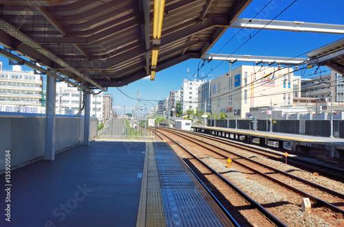 Tuinposter Stadion 横浜 東急田園都市線藤ヶ丘駅
