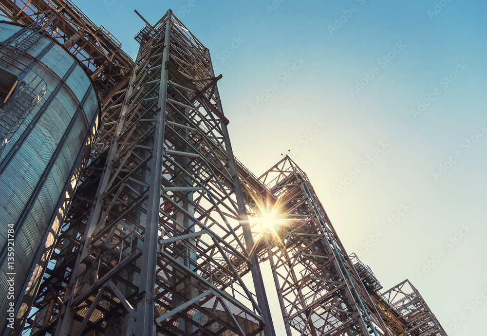 Fototapety, obrazy: Towers of grain drying enterprise