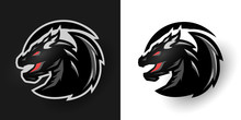 Round Dragon Logo. Two Options.