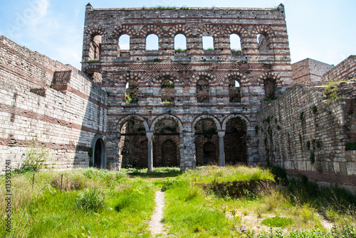 Fotomural Palace of Constantine (Tekfur Sarayi), heritage of the Byzantine Empire in Constantinople