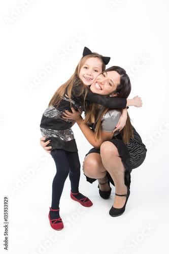 Fotografie, Obraz  bellissima famiglia composta da madre e fliglia adolescente