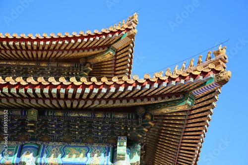 Foto op Aluminium Beijing Pagode, Verbotene Stadt, Peking China