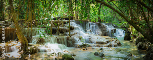 Wall Murals Waterfalls Huay Mae Kamin waterfall National Park