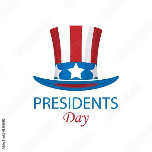Presidents day minimalist poster. Vector illustration Fotomurales