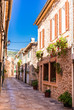 Idyllic street at Spain Majorca old mediterranean village Esporles