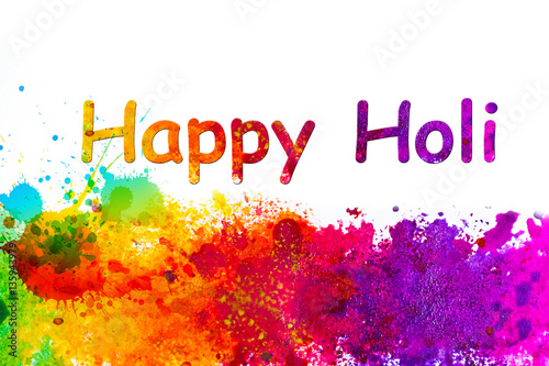Holi greetings card with many colors buy this stock illustration holi greetings card with many colors m4hsunfo