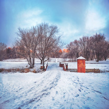 A Beautiful Winter Scene At Du...