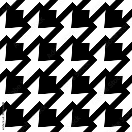 Photo  Black and white houndstooth pattern