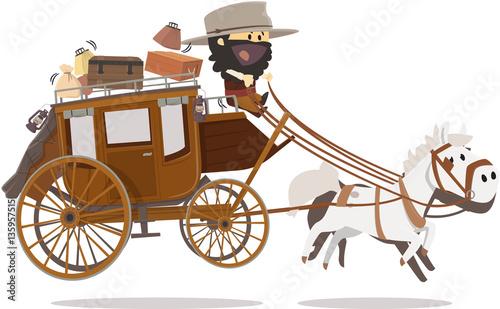 Obraz na plátně Diligence de western