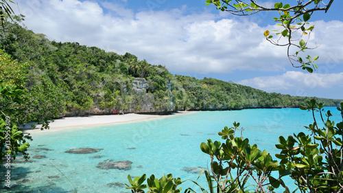 Poster Océanie Beautiful beach on Lifou Island, New Caledonia