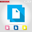 New document icon. Button with document icon. Modern UI vector.