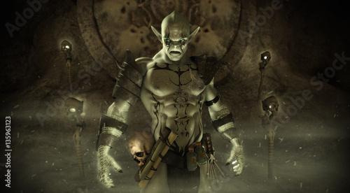 Foto  Orc warlock character