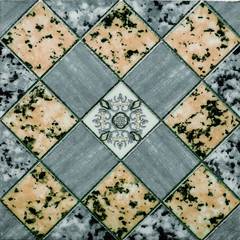 Fototapeta Mozaika classic tile, green abstract pattern