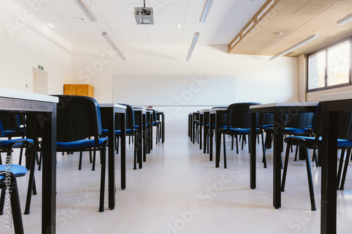 Stampe  Empty classroom in education university