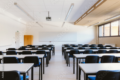Stampa su Tela  Empty classroom in education university