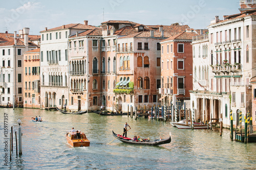 Fotografie, Obraz  Grand Canal with Gondola in Venice