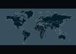 World map. illustration of world map on a dark background