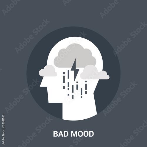 Fototapety, obrazy: bad mood icon concept
