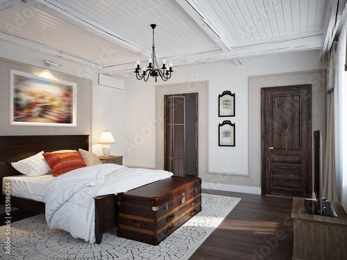 Fotografía  Spacious bedroom mediterranean style