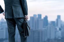 Businessperson And Cityscape