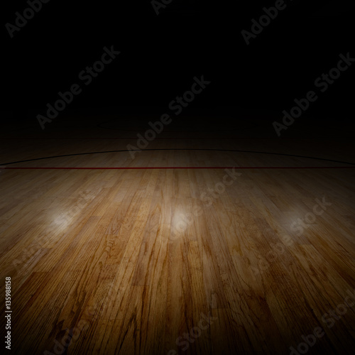 Basketball Arena With Special Lighting and Copy Space