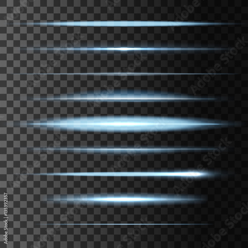 Fotografía Flashes star light lines, vector glow lights blur